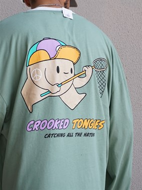 Crooked Tongues Oversize Long-Sleeve Tee